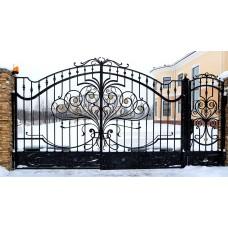 """Изящные ворота с ковкой """"Хертрудис"""""""