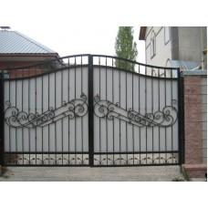 """Кованые ворота с поликарбонатом """"Натабейя"""""""