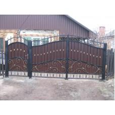Кованные ворота № 4