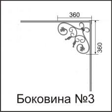 Боковины козырьков № 3
