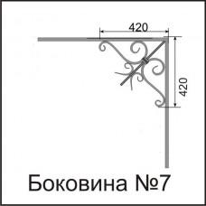 Боковины козырьков № 7