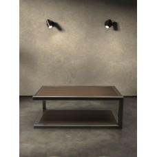 Придиванный столик из дерева и металла