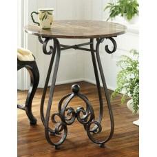 Кофейный столик с стиле лофт с элементами ковки