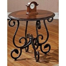 Кофейный столик с стиле лофт с элементами ковки 2