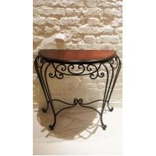 Кофейный столик с стиле лофт с элементами ковки 3