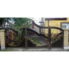 Забор кованный №10