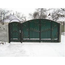Ворота из профлиста №9