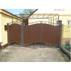Ворота из профлиста №10