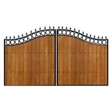 Ворота из дерева №2