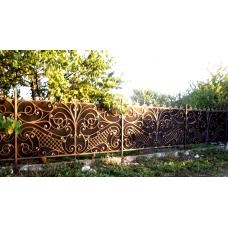 Ворота из профлиста с ковкой №37