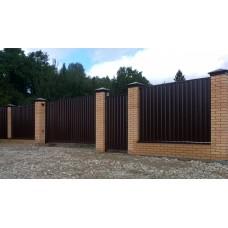 Забор из профлиста №41
