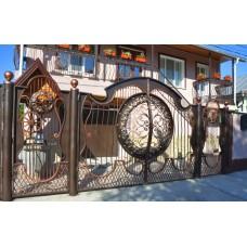 Ворота с ковкой №38