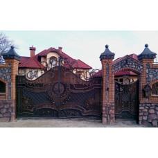 Ворота с ковкой №39