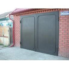Ворота гаражные металлические распашные №2