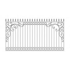 Кованный забор 21-5