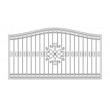 Кованный забор 21-8