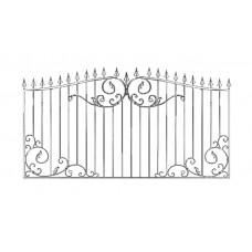 Кованный забор 21-9