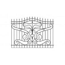 Кованный забор 21-15