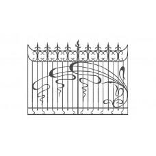 Кованный забор 21-17