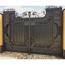 Ворота кованные Ф25