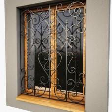 Решетка кованная на окна Q16