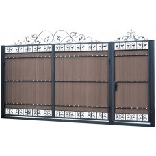 Ворота из профлиста с ковкой WQ11