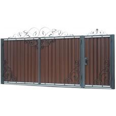 Ворота из профлиста с ковкой WQ16