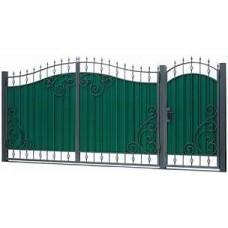 Ворота из профлиста с ковкой WQ12