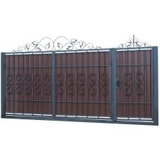 Ворота из профлиста с ковкой WQ17
