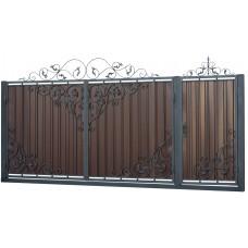 Ворота из профлиста с ковкой WQ20