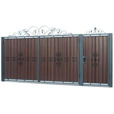Ворота из профлиста с ковкой WQ14