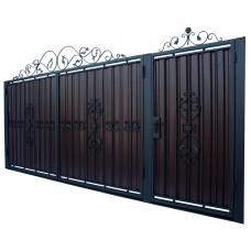 Ворота из профлиста с ковкой WQ15