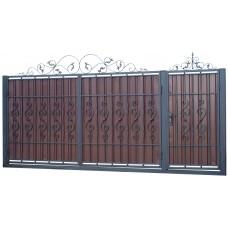 Ворота из профлиста с ковкой WQ18
