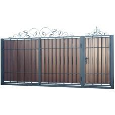 Ворота из профлиста с ковкой WQ19