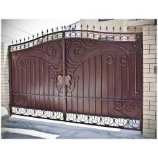 Сварные ворота из профлиста