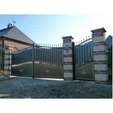 Металлические ворота F9