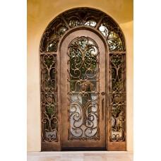 Кованая дверь-решетка в виде арки
