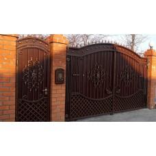 Распашные кованые ворота и калитки