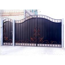 Изготовление металлических распашных кованых ворот