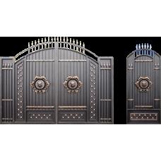 Глухие распашные кованые ворота и калитки