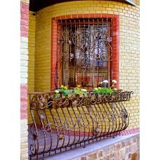 Дутые кованые решетки на террасу