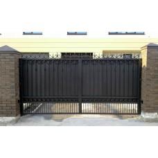 Кованые ворота под ключ