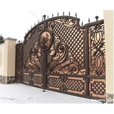 Кованные ворота № 18
