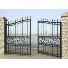 Ворота распашные из металла G2