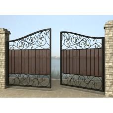 Ворота распашные из металла G4