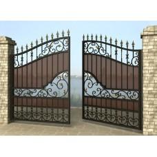 Ворота распашные из металла G6