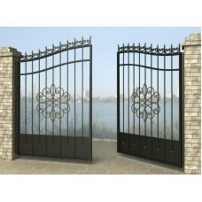 Ворота распашные из металла G7