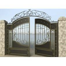 Ворота распашные из металла G9