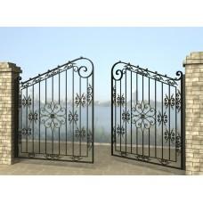 Ворота распашные из металла G12
