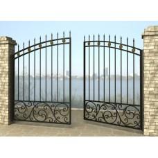 Ворота распашные из металла G14